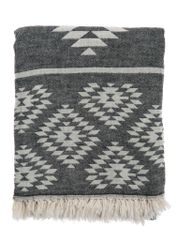 Kilim Turkish Towel - Black