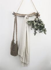Linen Tassel Throw- Flax