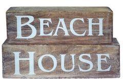 Beach House Wooden Blocks