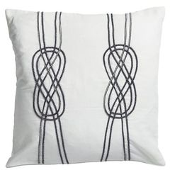 Navy Rope Duo Cushion 50x50cm