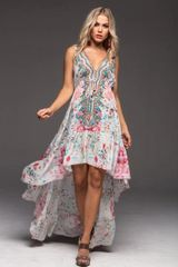 Czarina Hi-Low Silk Blend Dress