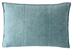 Luca Linen Cushion Small- Sea Mist