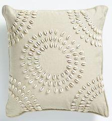 Shell Cushion Natural - Circular Pattern