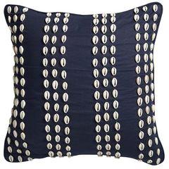 Shell Cushion Navy 50cm