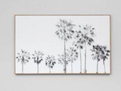 Tropical Sky Grey Canvas Print w/ Frame