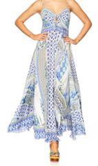 Camilla Tie Front Maxi 'Salvatore Summer' Print XS