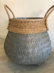 Guci Pot Basket- Grey