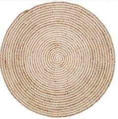 Plumeria Round Jute Rug