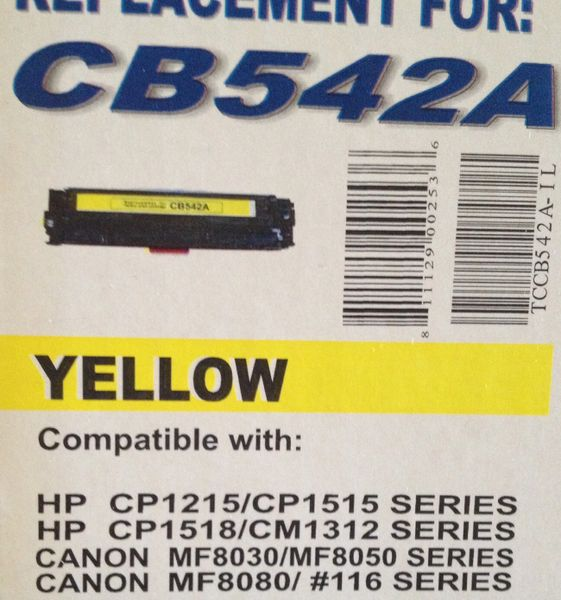 HP CB542A (125A) Yellow Toner