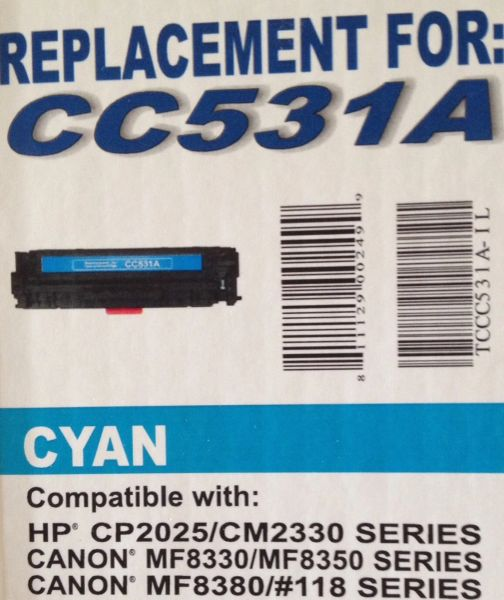 HP CC531A (304A) Cyan Toner Cartridge