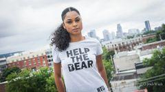 Women's Fitted Original Help The Bear T-Shirt
