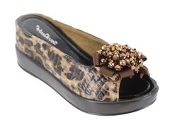 HELEN'S HEART 8127-19 BROWN LEOPARD