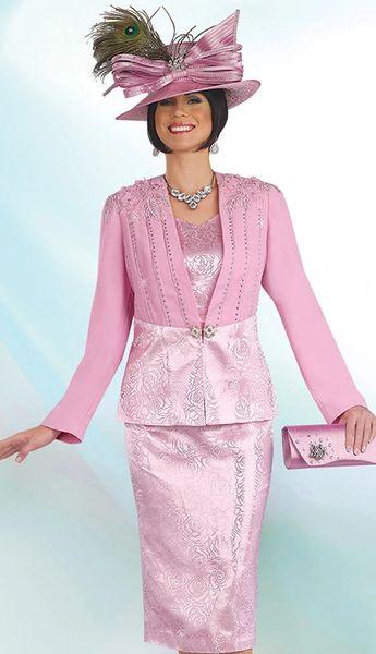 Discount Women S Designer Dress Suit Pink Brocade Ladies Dress