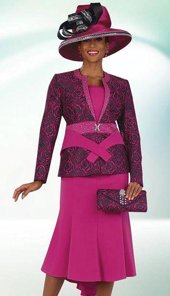 Discount Women S Designer Dress Suit Ladies Fuchsia Dress