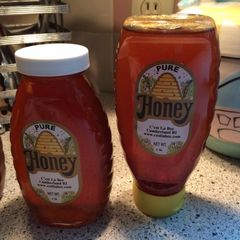Honey Local and raw - one pound plastic bottle