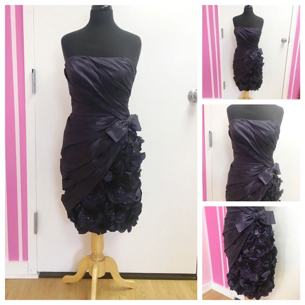 Size 8 Love Navy Blue Strapless Semi Formal Dress The Discount