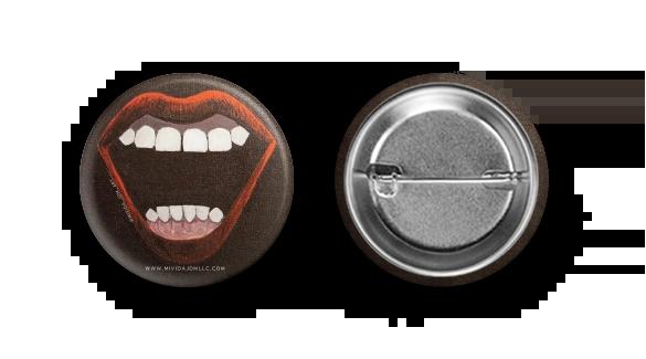 Scream Queen Button Pair by MiVida JDM Art