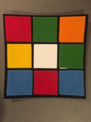 Rubik's Cube Themed Dinner Plate 5