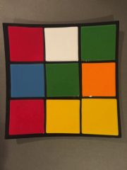 Rubik's Cube Themed Dinner Plate 6
