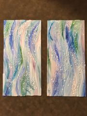 Water Wave Wall Hanging Pair