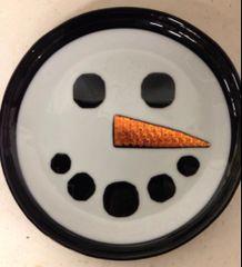 Snowman serving plate