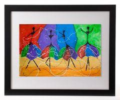 Color Flow Framed Print