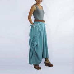 H18 The One and Only II Light Blue Cotton Maxi Skirt