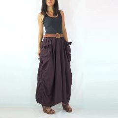 H11 The One and Only II Grape Twist Purple Maxi Skirt