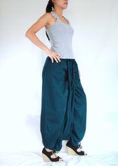 G21 Mulan Women Teal Harem Pants Sarouel Baggy Festival Loose Genie Pants