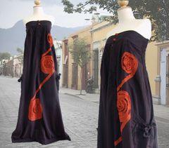 G07 Infinity Long Cotton Summer Strapless Brown Maxi Dress