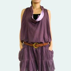 Z13 Sea of Love I Women Bohemian Purple Summer Oversized Mini Dress