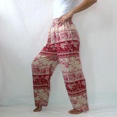 F15 Chang Yai Women Elephant Red Yoga Pants