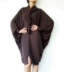 B23 The Mystery Boho Oversized Extra Large Brown Tunic