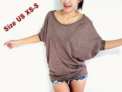 Z13 Origami Loose Oversized Women Dolman Sleeves Top in Blue Brown Mint Gray