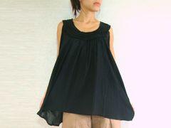 C16 Sweet Layers Women Summer Sleeveless Blouse Marterniiy in Black