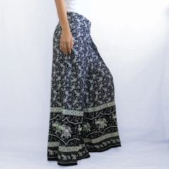 G25 Asana Women Black Wide Leg Elephant Pants