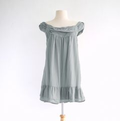 C20 Pollens Loose Comfy Women Gray Cotton Sleeveless Peasant Blouse
