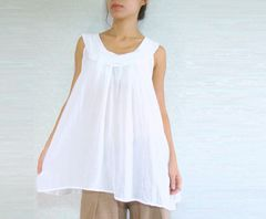 A19 Sweet Layers White Summer Women Sleeveless Blouse Maternity Blouse