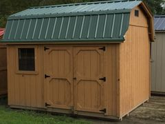 USED 10x12 Cedar w/ Green Roof Amish Barn