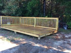 Used 8x16 Treated Wood Platform Deck