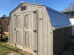 10x12 Wall Barn Flagstone/Galv