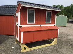 Red & White Chicken Coop