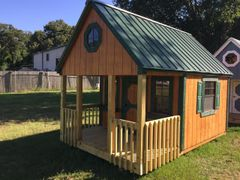 Used 8x12 Cedar/Green Playhouse