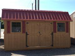 USED 12x16 Cedar/Red Amish Barn