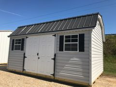 12x16 Amish Vinyl Wired with Lofts and Work Benches