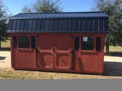Used 10x16 Rustic Red/BlackAmish Barn