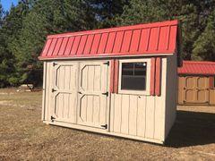 10x12 Amish Cottonwood/Red
