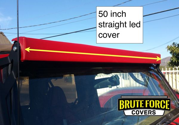 50 inch double row straight led light bar cover brute force covers 50 inch double row straight led light bar cover aloadofball Images