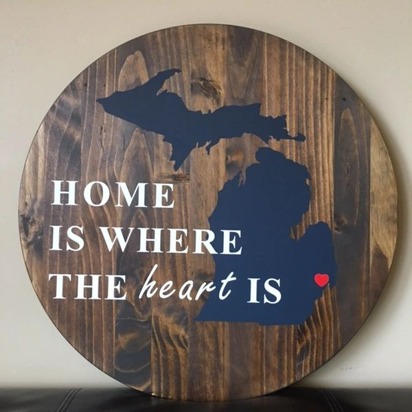 home is where the heart is wood love signs