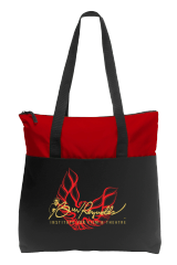 Embroidered Port Authority® Zip-Top Convention Tote